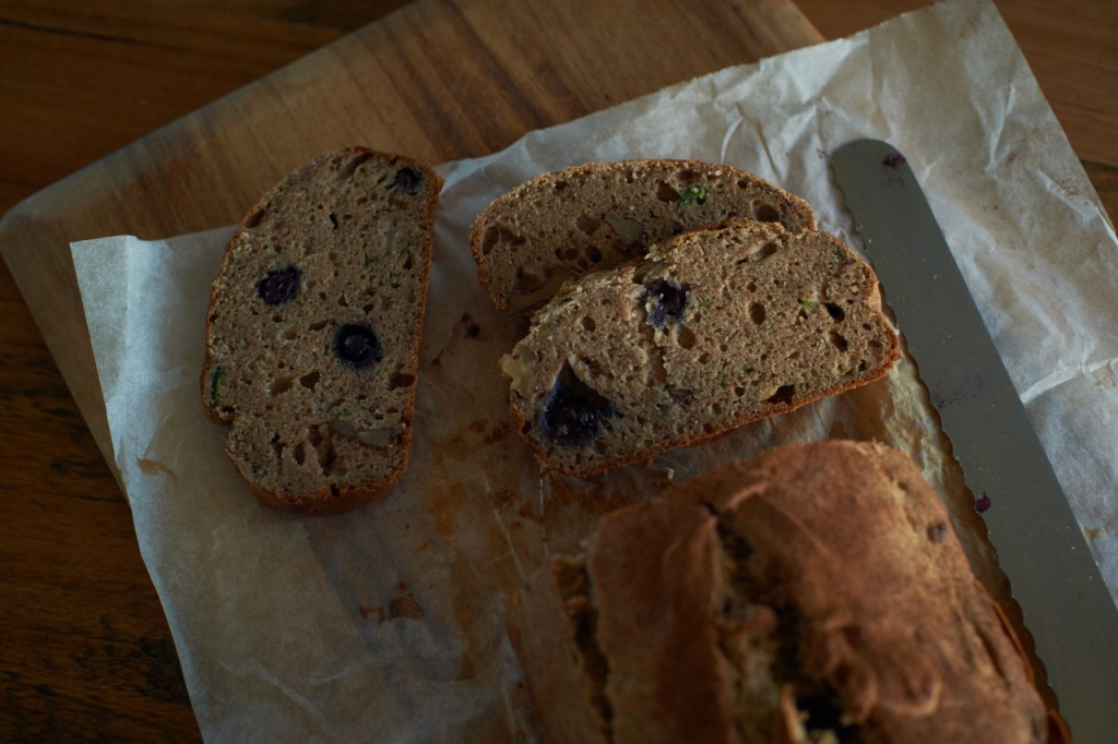 Buckwheat blueberry banana bread