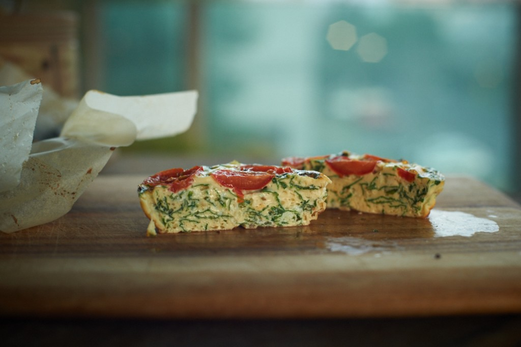 Mini herb and feta quiche